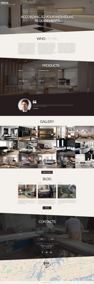 Адаптивный Joomla шаблон №61197 на тему мебель