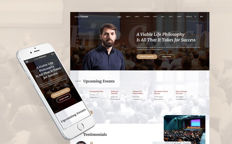 Jordan Turner - Life Coach Website Template New Screenshots BIG