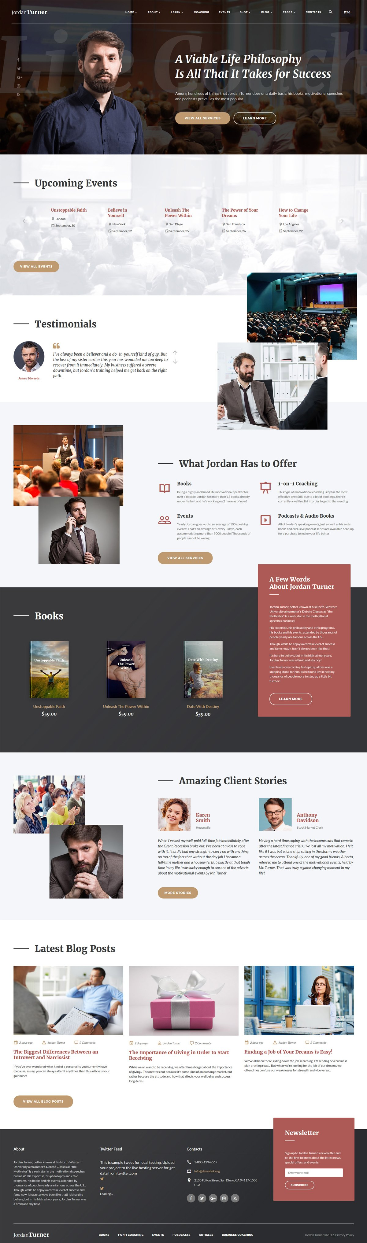 Jordan Turner - Life Coach Website Template - screenshot