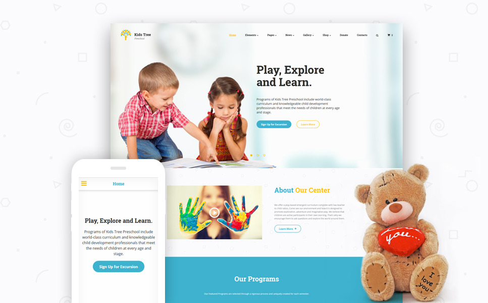 Kids Tree Website Template New Screenshots BIG