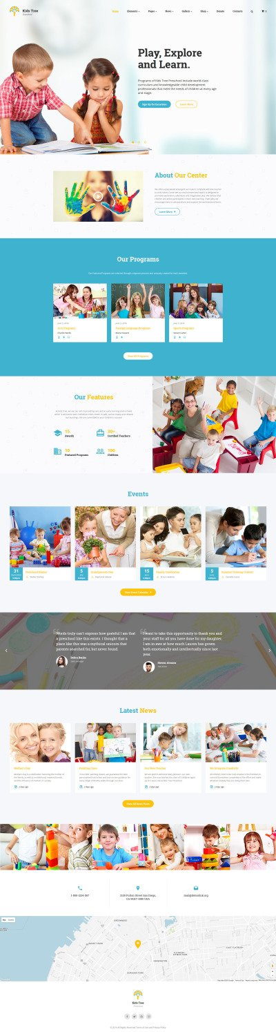 Kids Tree Website Template