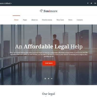 Law Firm Responsive Website Template #61176