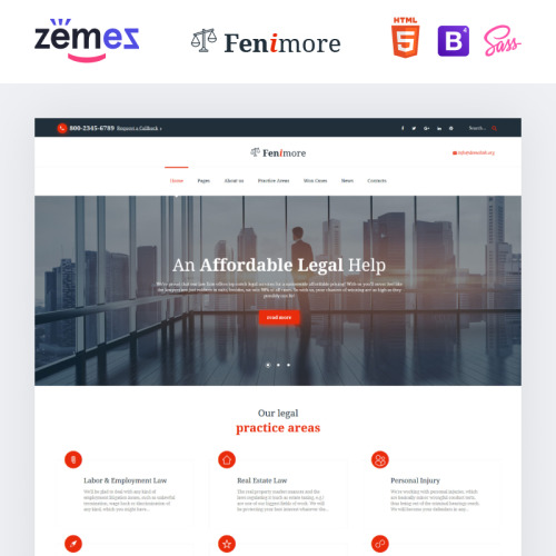Fenimore Law Firm - Website Template based on Bootstrap
