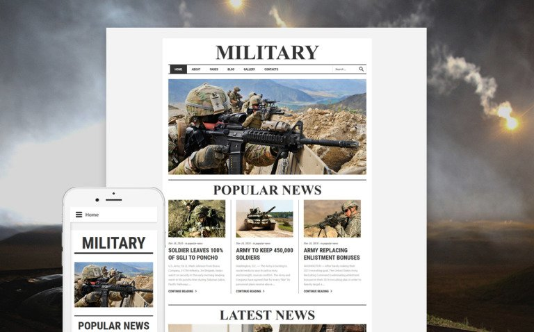 Military Responsive Joomla Template New Screenshots BIG