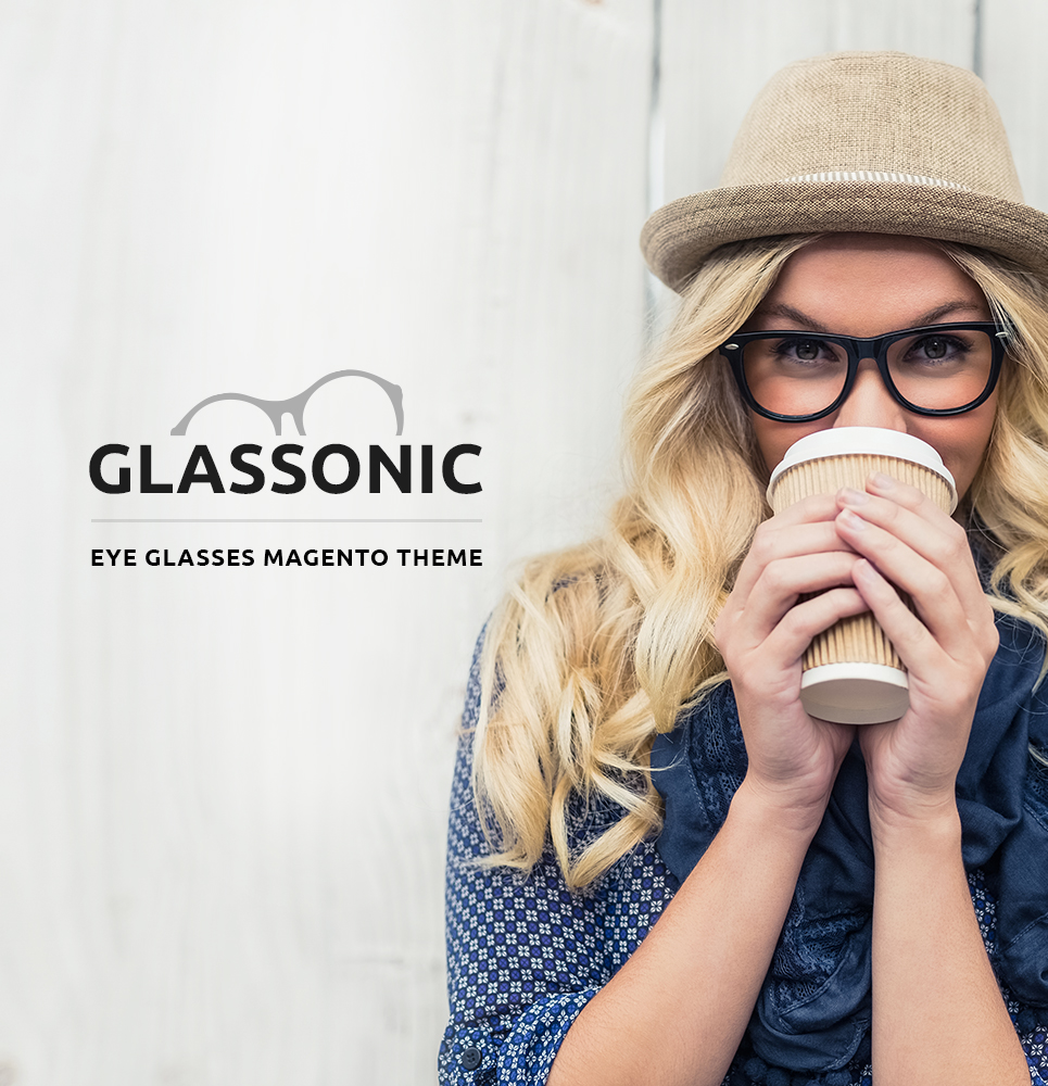 "Modello Magento Responsive #61193 ""Glassonic"" - screenshot"