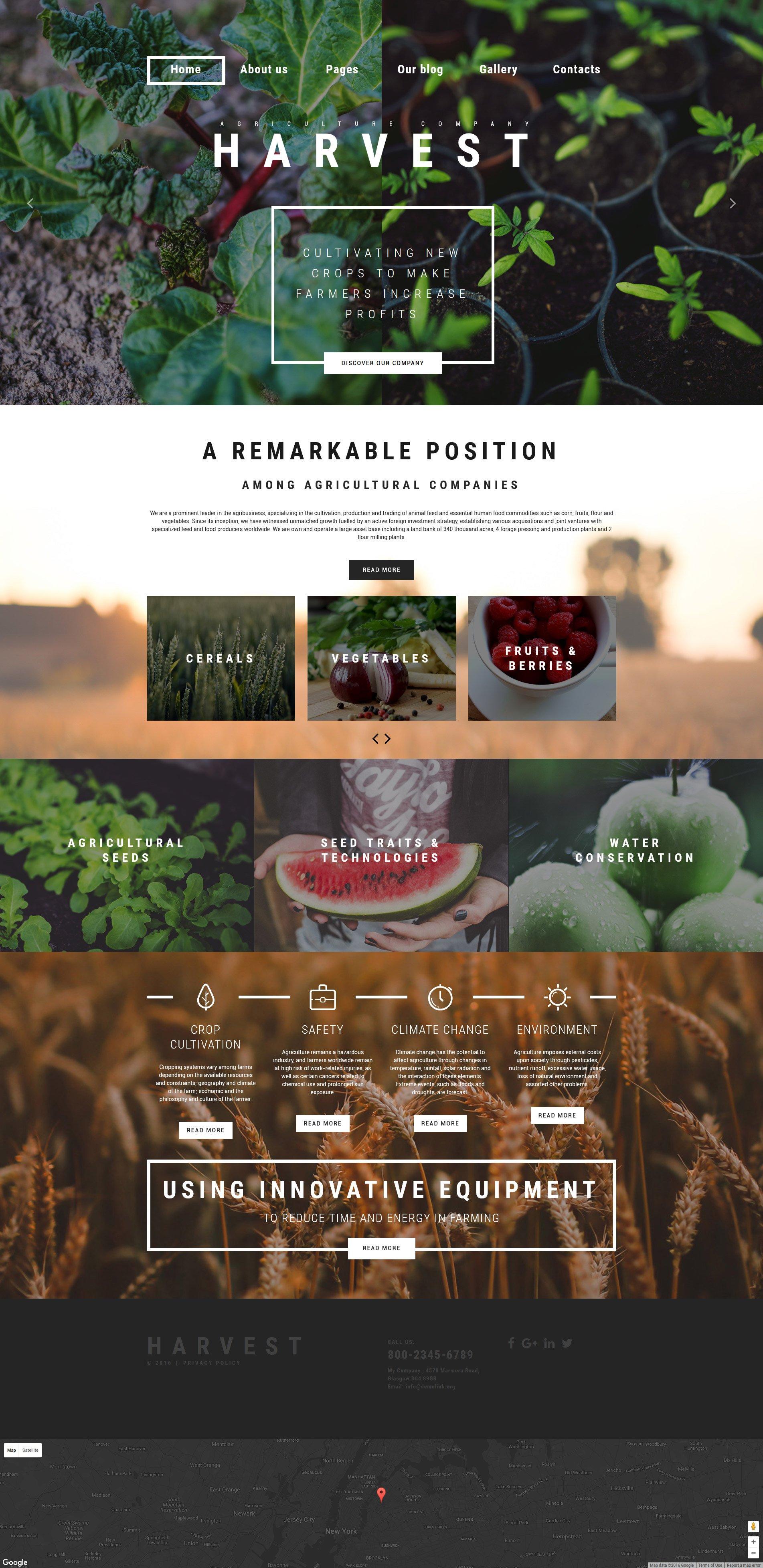 "Plantilla Joomla ""Harvest - Agriculture company"" #61135"