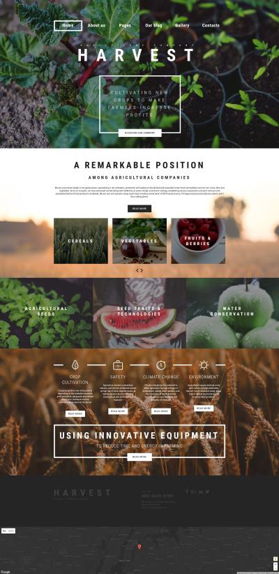 Plantilla Joomla para Sitio de Agricultura #61135