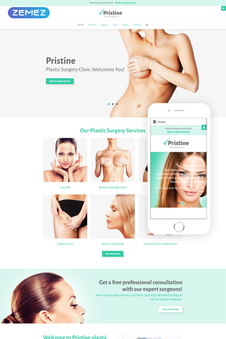 Plastic Surgery Clinic Joomla Template New Screenshots BIG