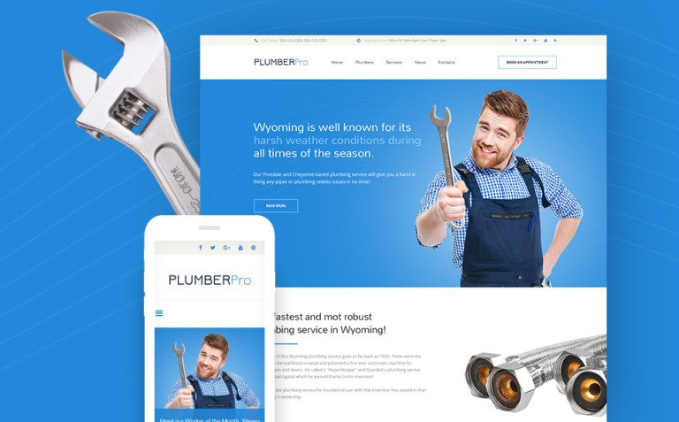 PlumberPro Website Template New Screenshots BIG