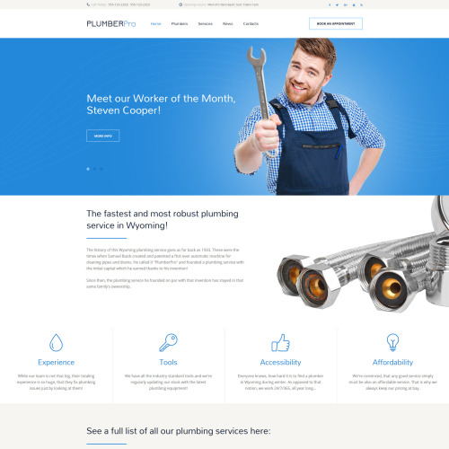 PlumberPro - Website Template based on Bootstrap