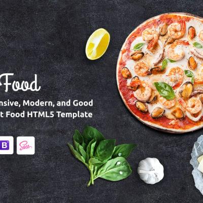Quick Food - Fast Food Restaurant HTML5 Website Template Website Template #61177