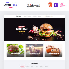 Food restaurant bootstrap themes templatemonster quick food fast food restaurant responsive multipage maxwellsz