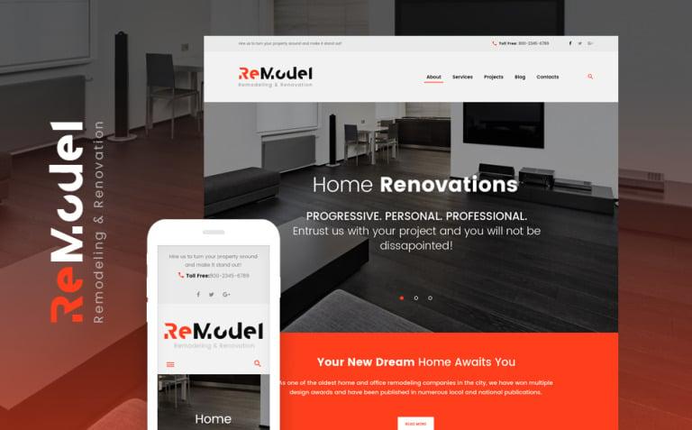 Remodel - Renovation & Interior Design WordPress Theme New Screenshots BIG