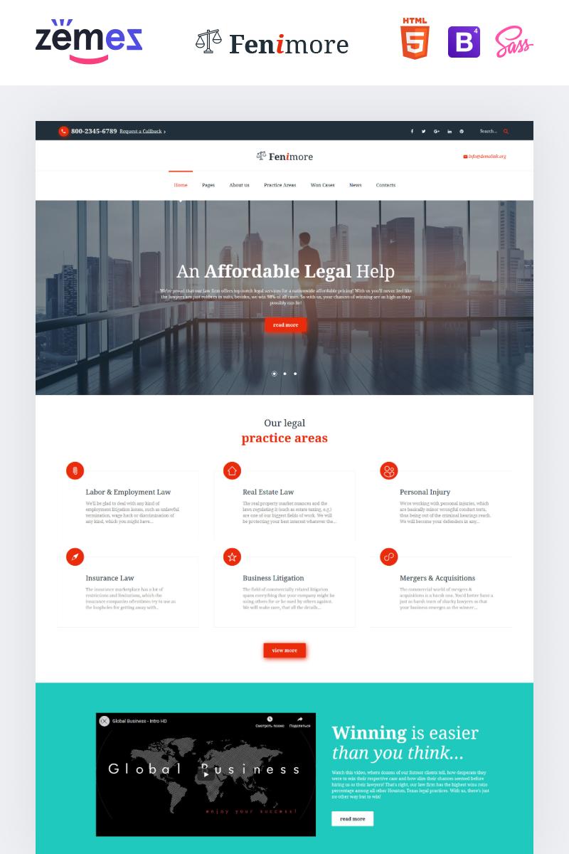 Responsive Hukuk Firması Web Sitesi #61176