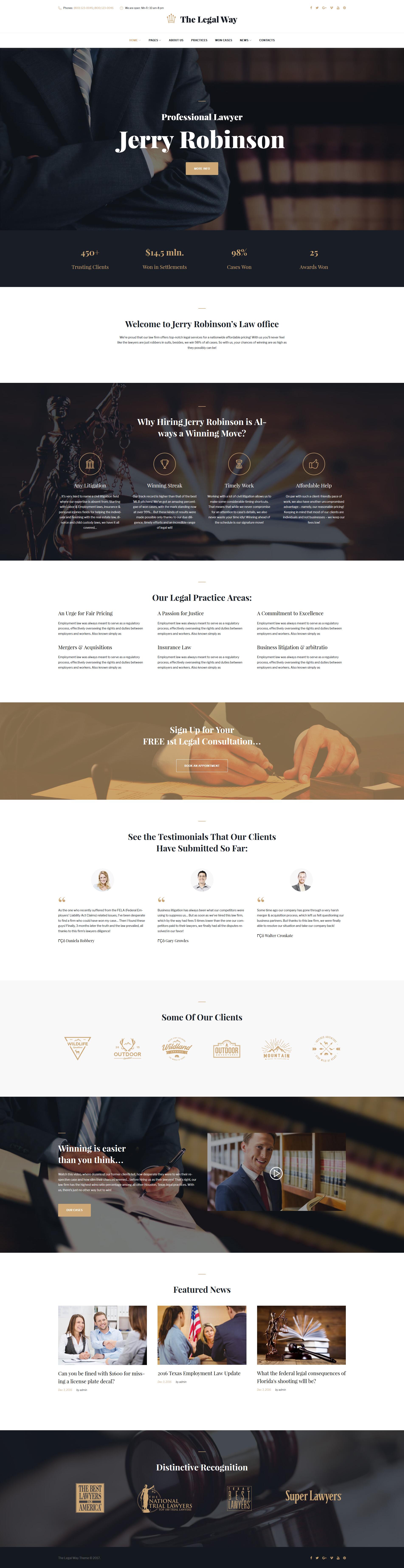 Responsive The Legal Way - Lawyer & Attorney Wordpress #61148