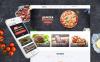 Responsive Website template over Fast Food Restaurant  New Screenshots BIG