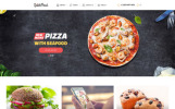 Responsive Website template over Fast food restaurant