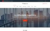 Responsive Website Vorlage für Anwaltskanzlei