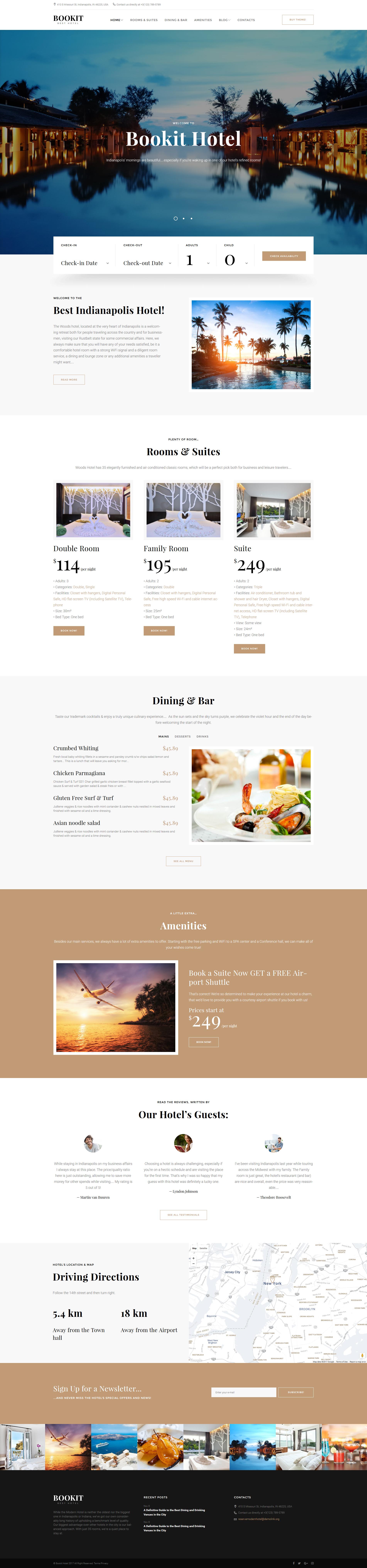 Responsywny motyw WordPress Bookit - Small Hotel #61155