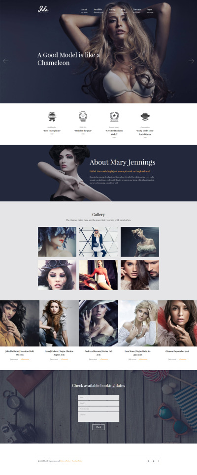 Model Portfolio Responsive WordPress Motiv