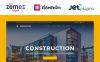 Reszponzív Építőipari vállalatok témakörű  WordPress sablon Nagy méretű képernyőkép