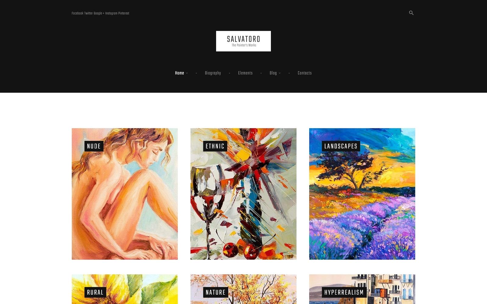 Reszponzív Salvatoro WordPress sablon 61162