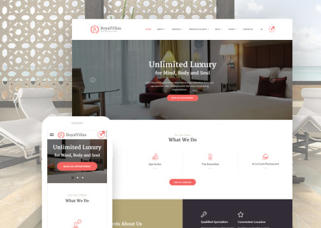 Resort Hotel Bootstrap