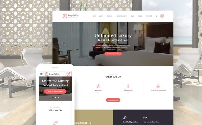 Royal Villas Website Template