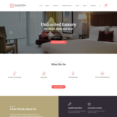 Royal Villas - Website Template based on Bootstrap