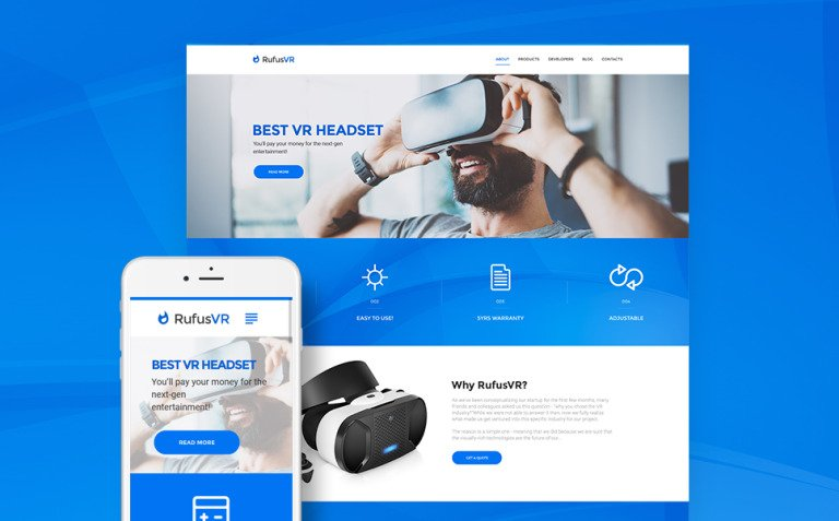 RufusVR - VR Startup Responsive WordPress Theme New Screenshots BIG