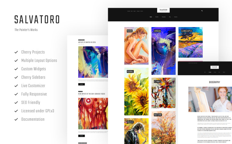 Salvatoro WordPress Theme New Screenshots BIG