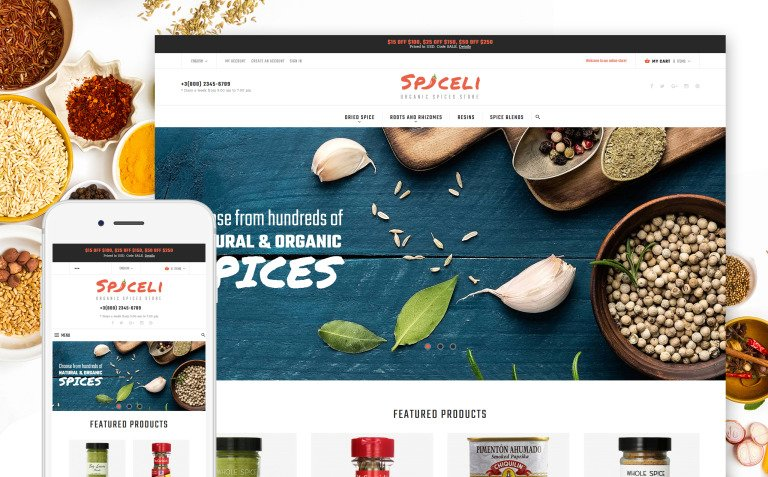 Spiceli Magento Theme New Screenshots BIG