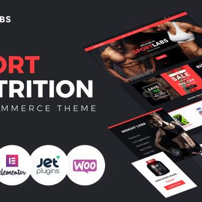 SportLabs - Sport Nutrition WooCommerce Theme WooCommerce Theme #61158
