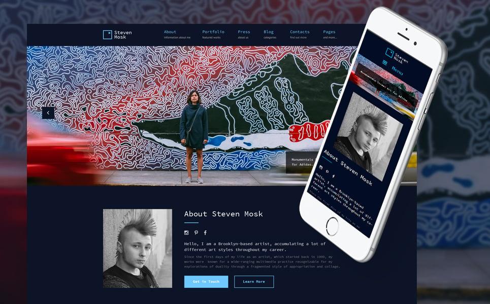 Steven Mosk - Modern artist personal portfolio WordPress Theme