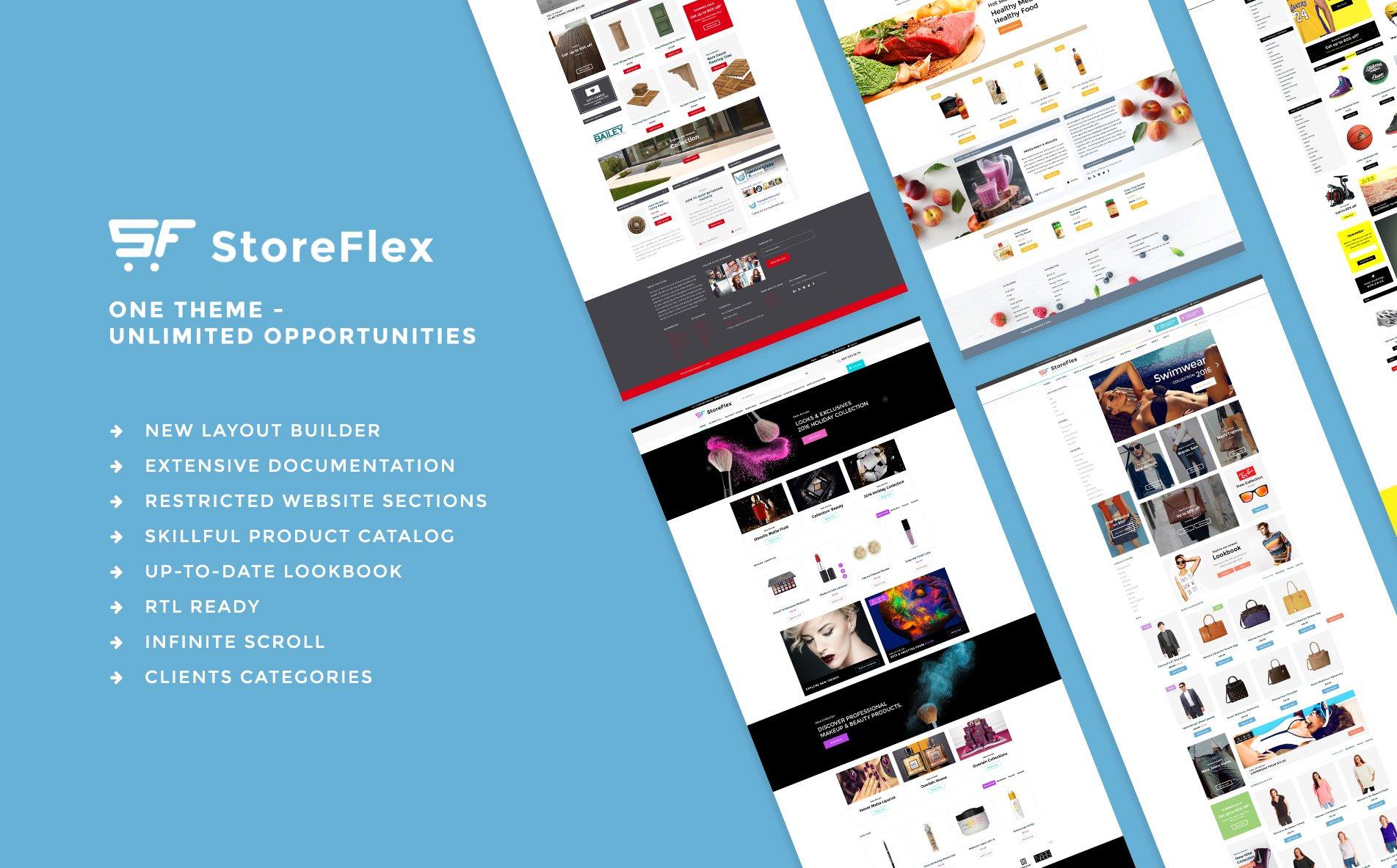 StoreFlex Multipurpose OpenCart Template