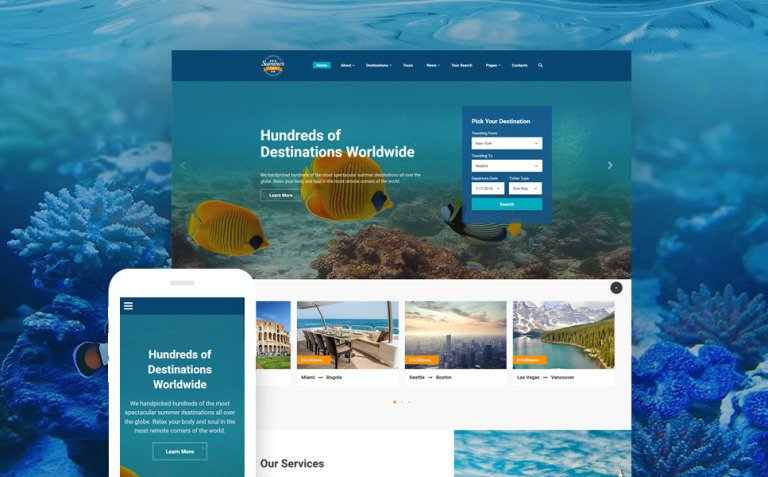 Summer Trip Website Template New Screenshots BIG