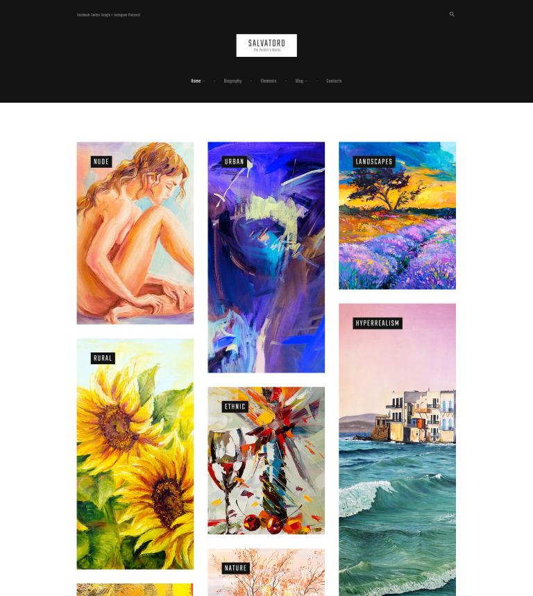 Tema de WordPress #61162 para Sitio de Portafolios de artistas