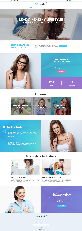 "Tema WordPress Responsive #61119 ""LifeHealth - Healthy Lifestyle Coach Responsive"""