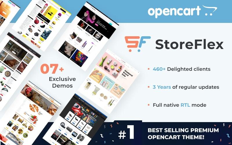 "Template OpenCart Responsive #61111 ""StoreFlex - Multifunzione"""