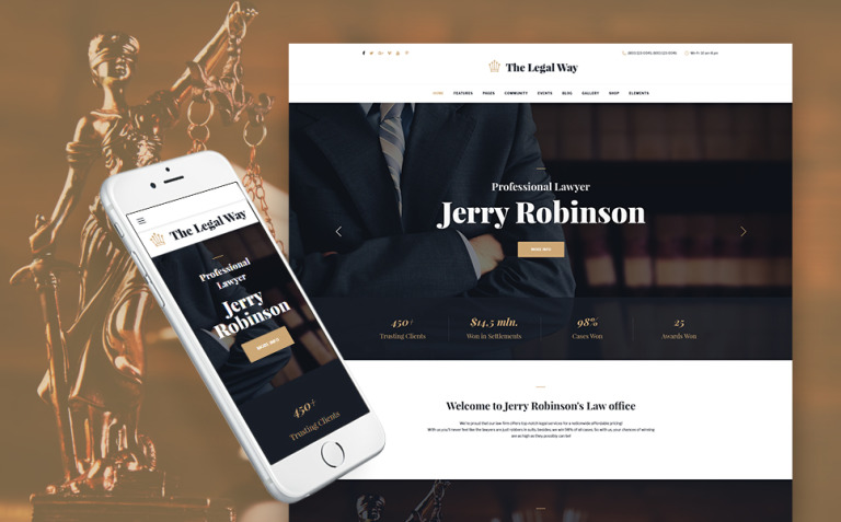 The Legal Way - Lawyer & Attorney WordPress Theme New Screenshots BIG