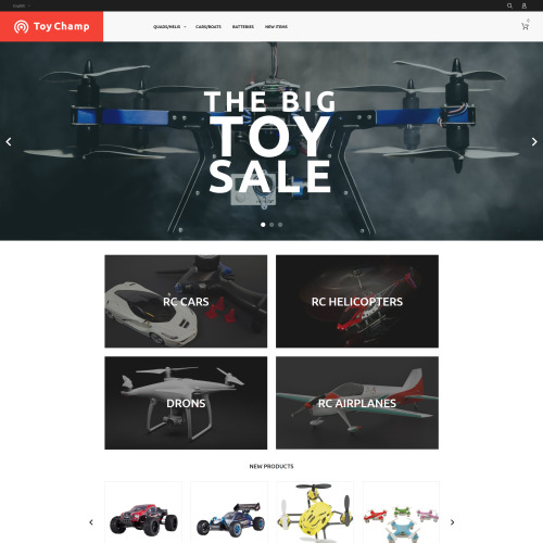 Toy Champ - Magento Template based on Bootstrap