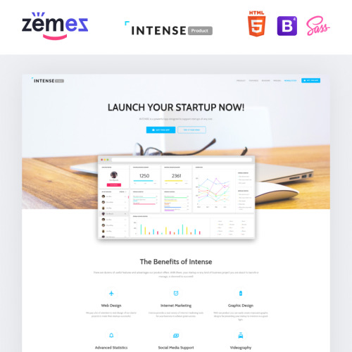 Intense - Responsive Landing Page Template