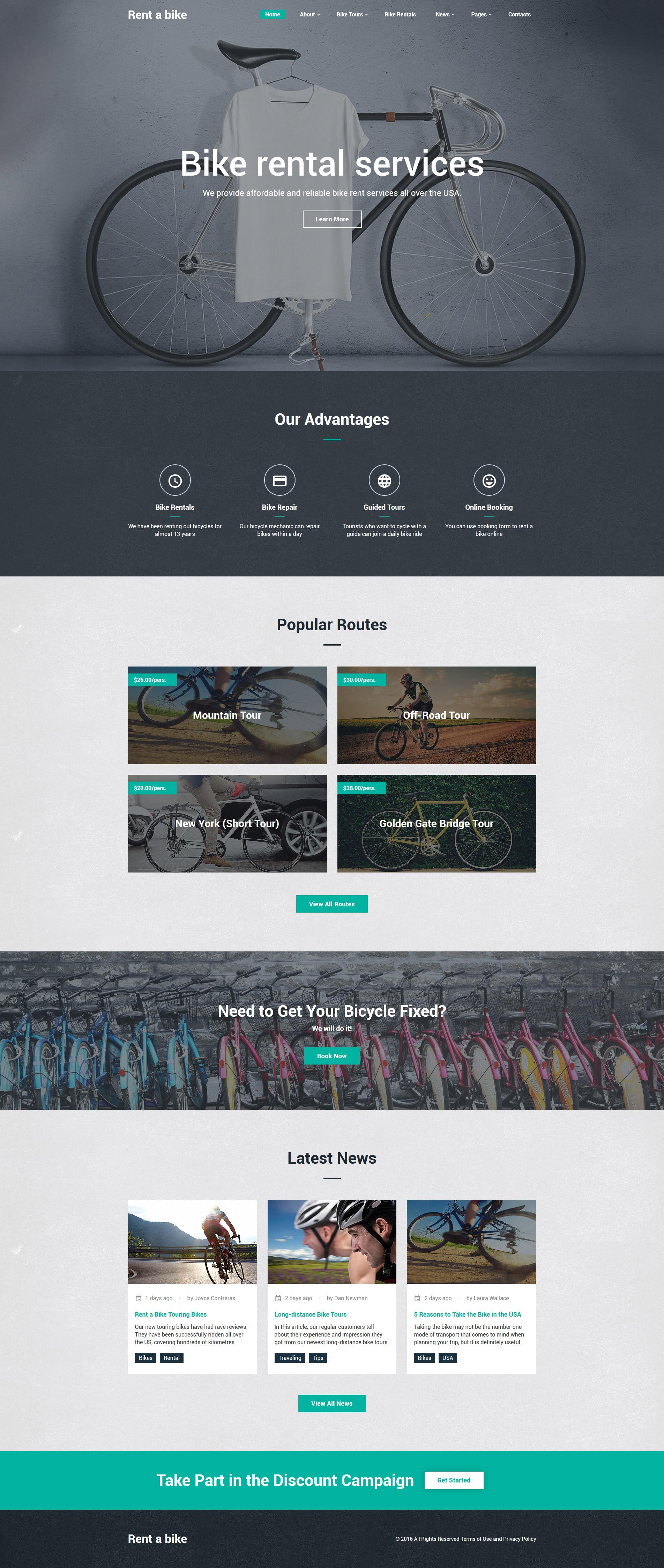"""Website Vorlage namens """"Bike Shop"""" #61188"""