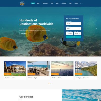 Responsive Website Vorlage für Reisebüro