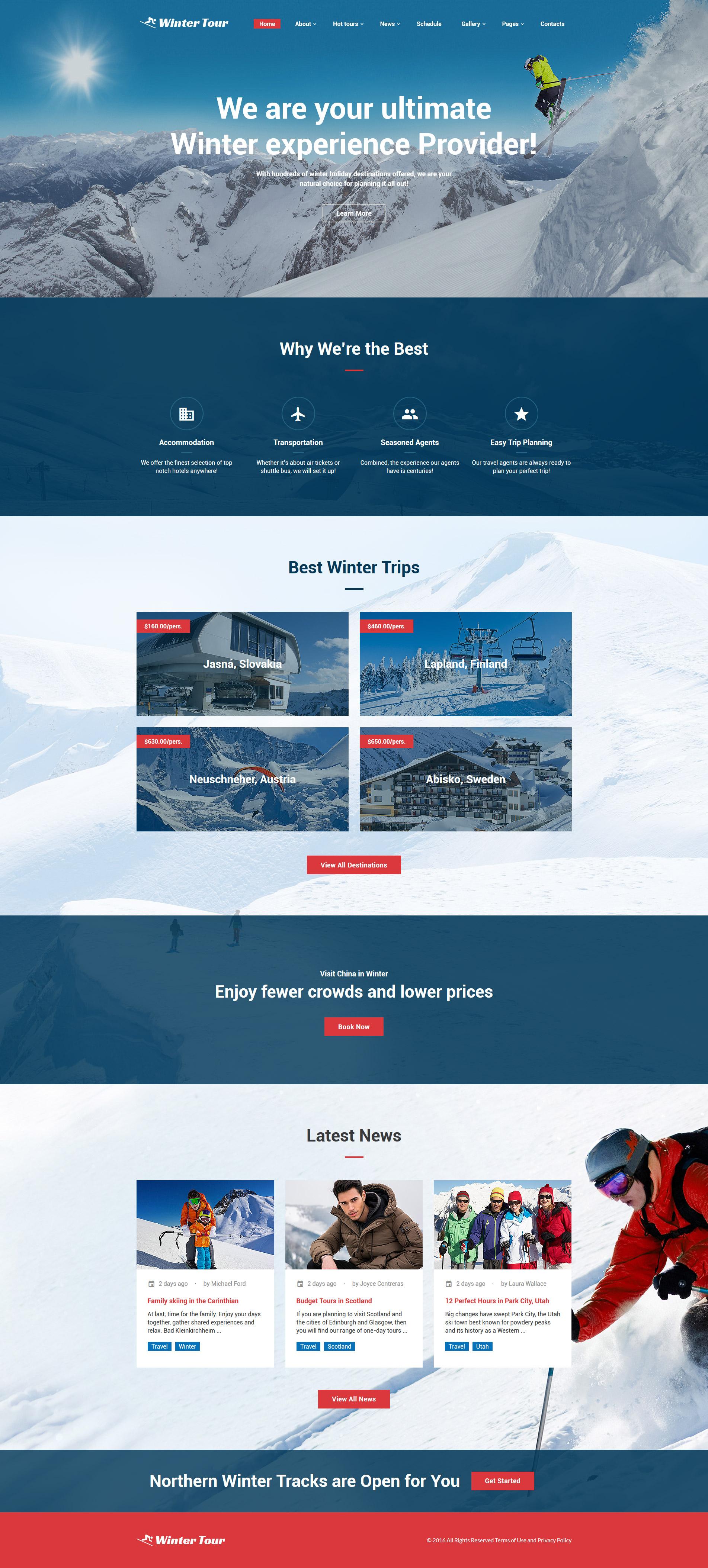 Winter Tour - Tour & Travel Agency Template Web №61187