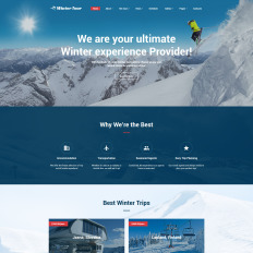 Free html5 bootstrap 4 travel agency website template with a clean.