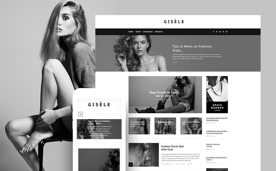 Шаблон Gisele для блога о моде #61146