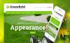 "WordPress Theme namens ""GreenField - Rasenpflege"" New Screenshots BIG"