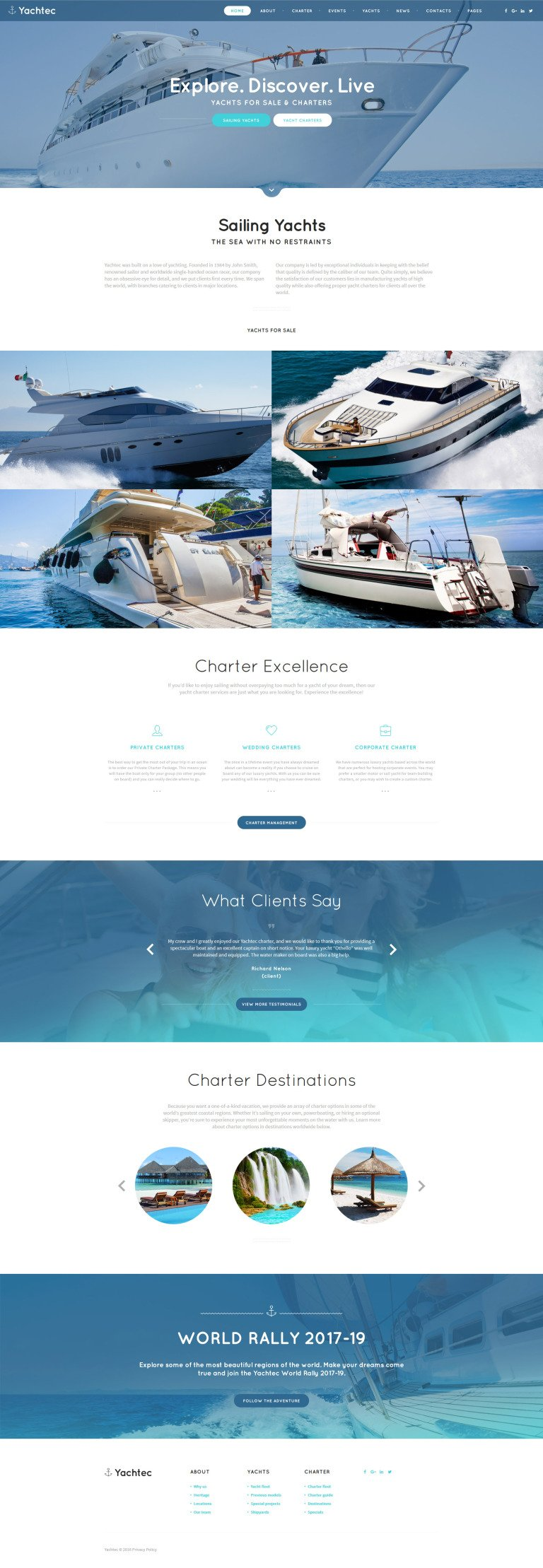 Yachtec Website Template New Screenshots BIG