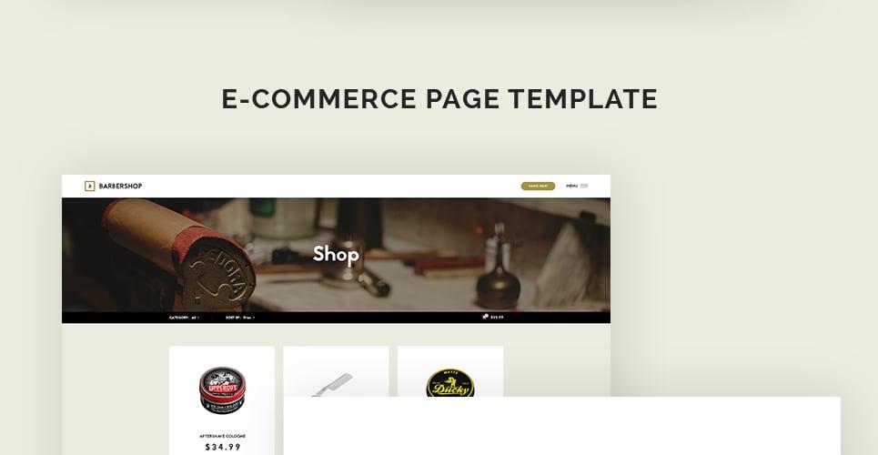 barber shop website template. Black Bedroom Furniture Sets. Home Design Ideas